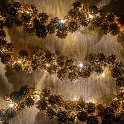 Guirlande lumineuse pommes de pin - L120cm naturel-PIO