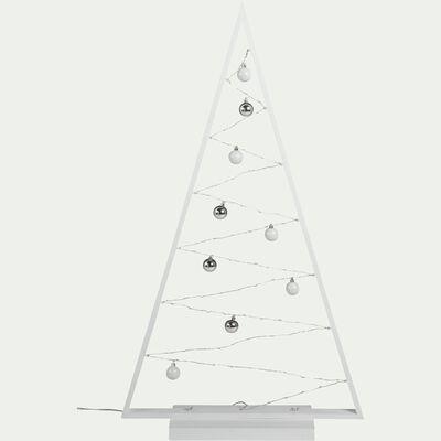 Arbre en bois blanc lumineux 85 micro led H115cm-ARBRE