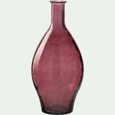 Vase en verre recyclé - rouge H60cm-AJJA