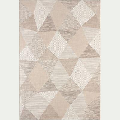 Tapis intérieur et extérieur à motifs - beige 160x230cm-METRIX