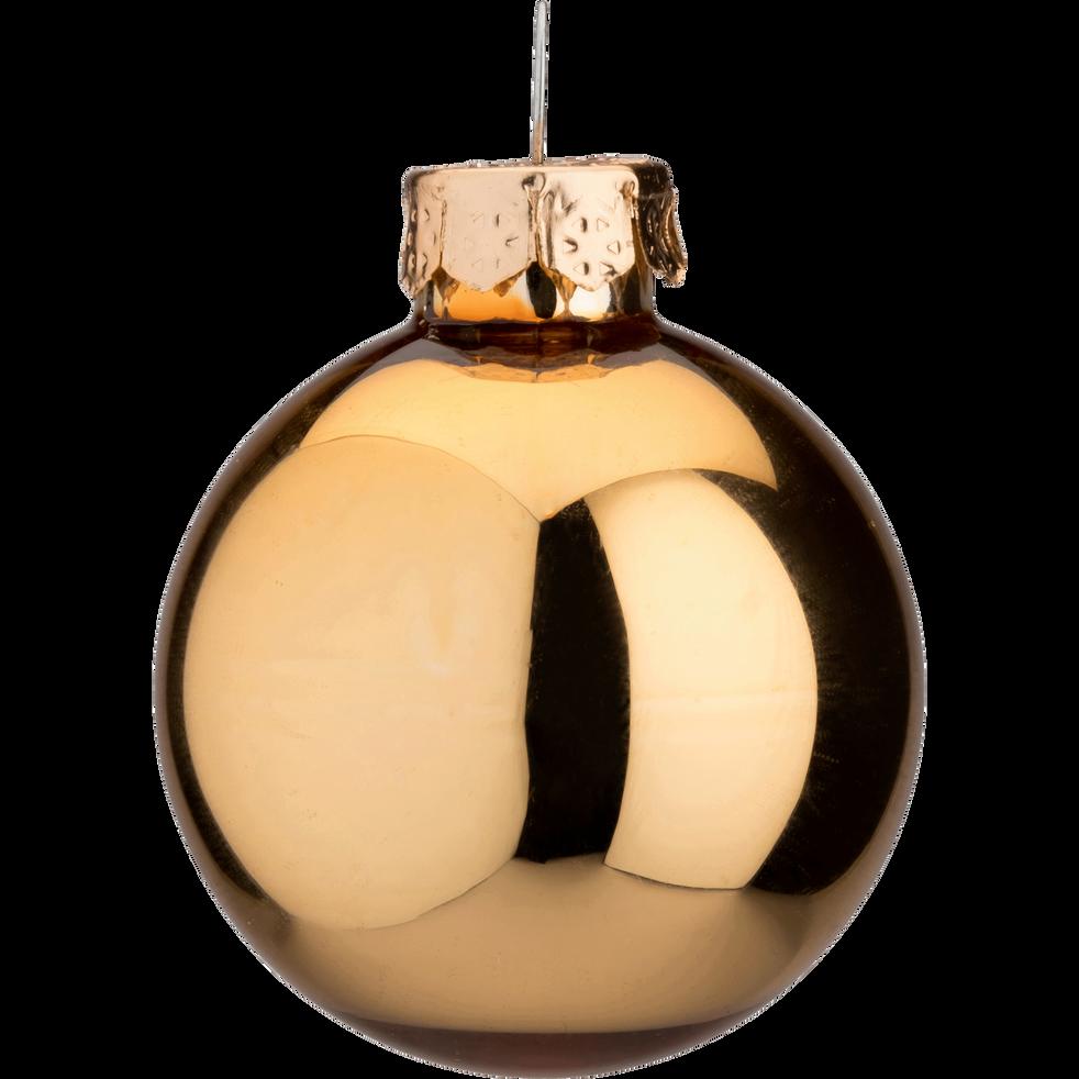 16 mini boules de Noël en verre doré D3,5cm-OLAN