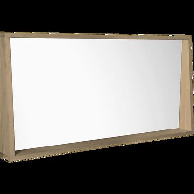 Miroir rectangulaire de salle de bains L120cm en chêne-NATIVE