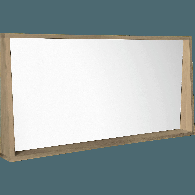 Charmant Miroir Rectangulaire De Salle De Bains L120cm En Chêne NATIVE
