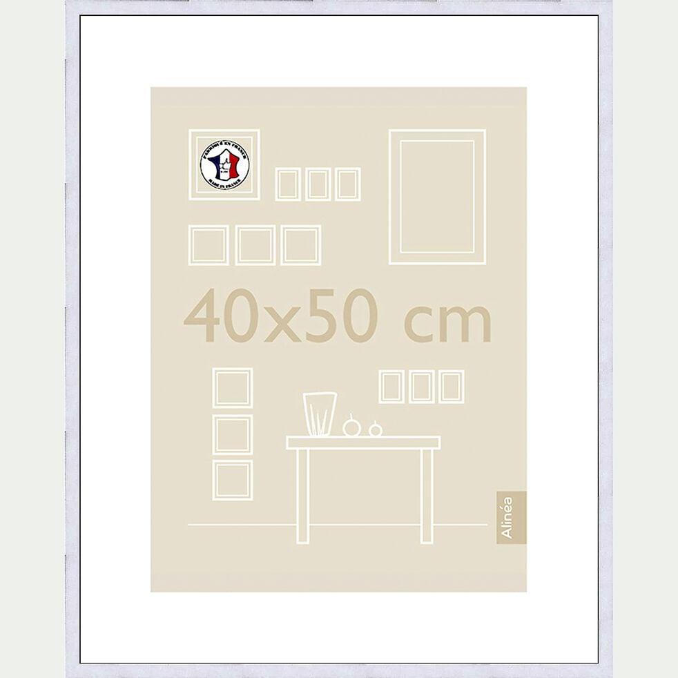 Cadre photo en bois - 40x50cm blanc-Hapa