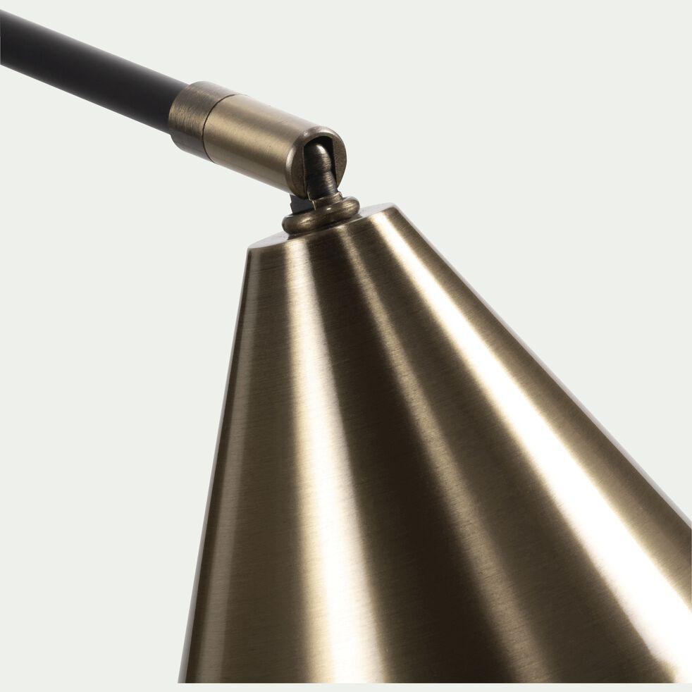 Applique en métal noir et doré 22,5x15x50,5cm-JORDA