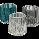 Photophore en verre H6 cm Transparent-Lumio