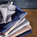 Lot de 2 serviettes de table en lin et coton bleu figuerolles 41x41cm-NOLA