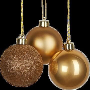 Lot de boules en verre dorées 10 pièces D6cm-ROXAS