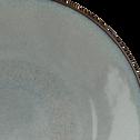 Assiette à dessert en grès gris D19cm-SERENA
