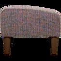 Pouf en tissu multicolore-LEGGY