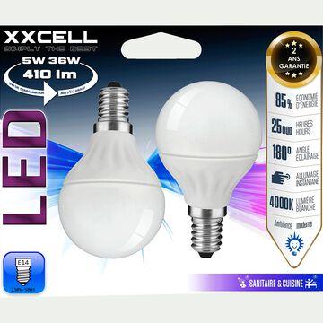 2 ampoules à LED D4,5cm culot E14-SPHERE