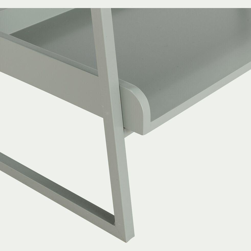 Etagère 5 tablettes en bois et métal vert olivier L80cm-ESTANIER