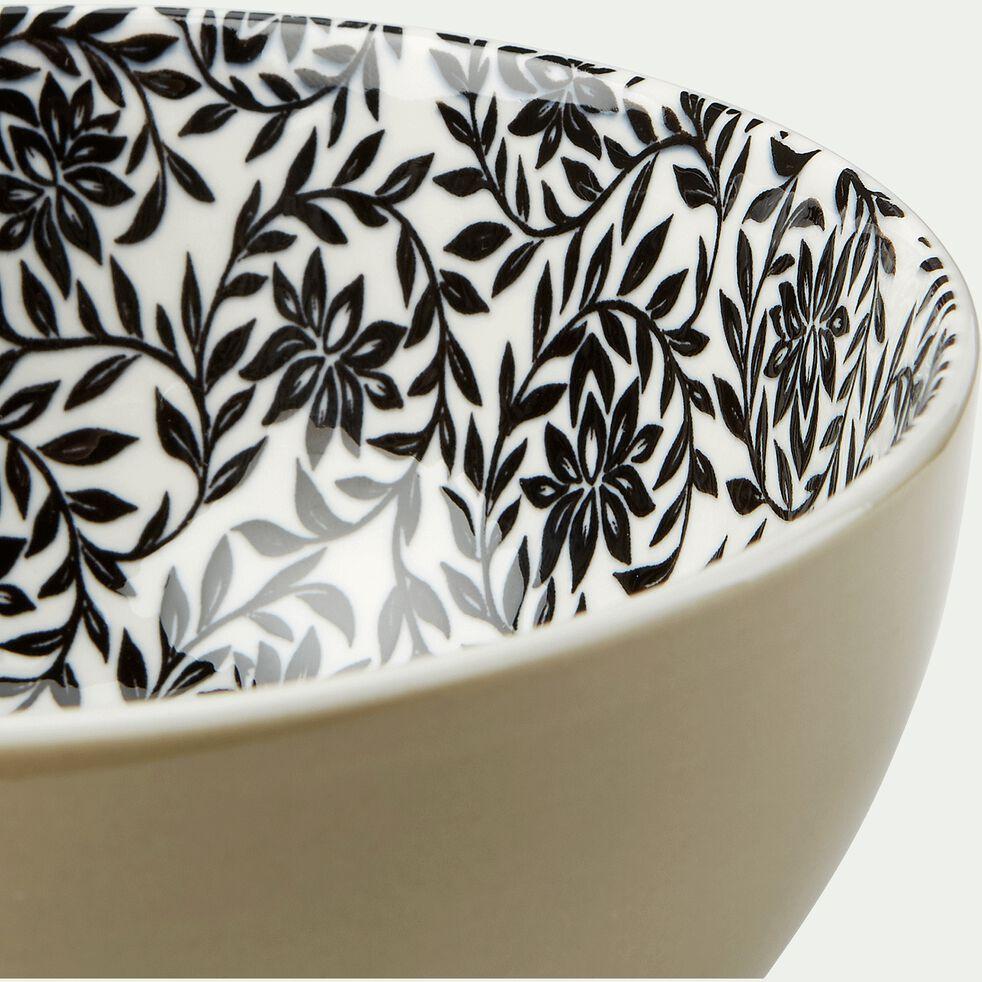 Coupelle en porcelaine motifs jasmin - beige nèfle D11,5cm-AIX