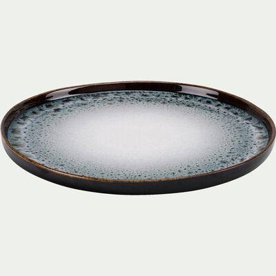 Assiette plate en grès bleu D26cm-OMBRE