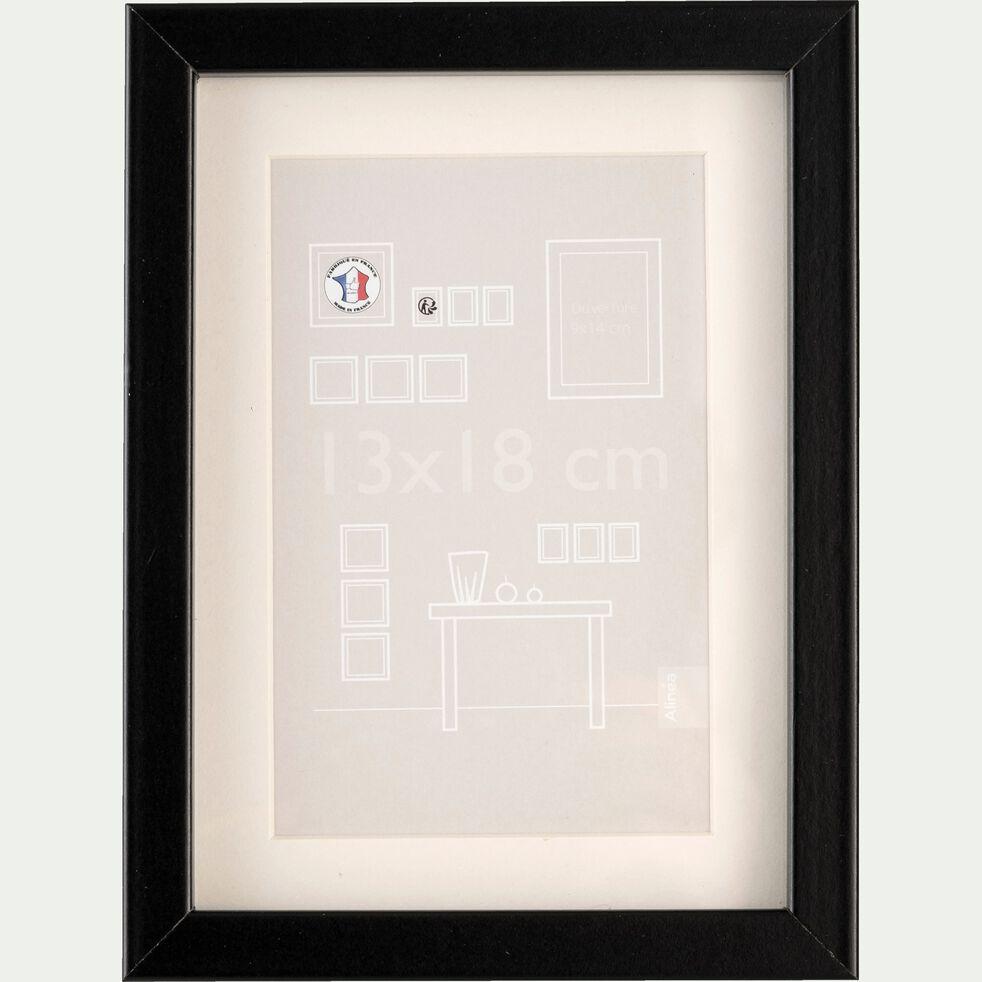 Cadre photo en bois - 13x18cm noir-Hapa