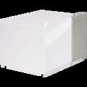 Table de chevet finition blanc laqué et béton 1 tiroir-DELIA