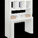 Bureau modulable blanc avec étagères et tiroirs-TWISTY
