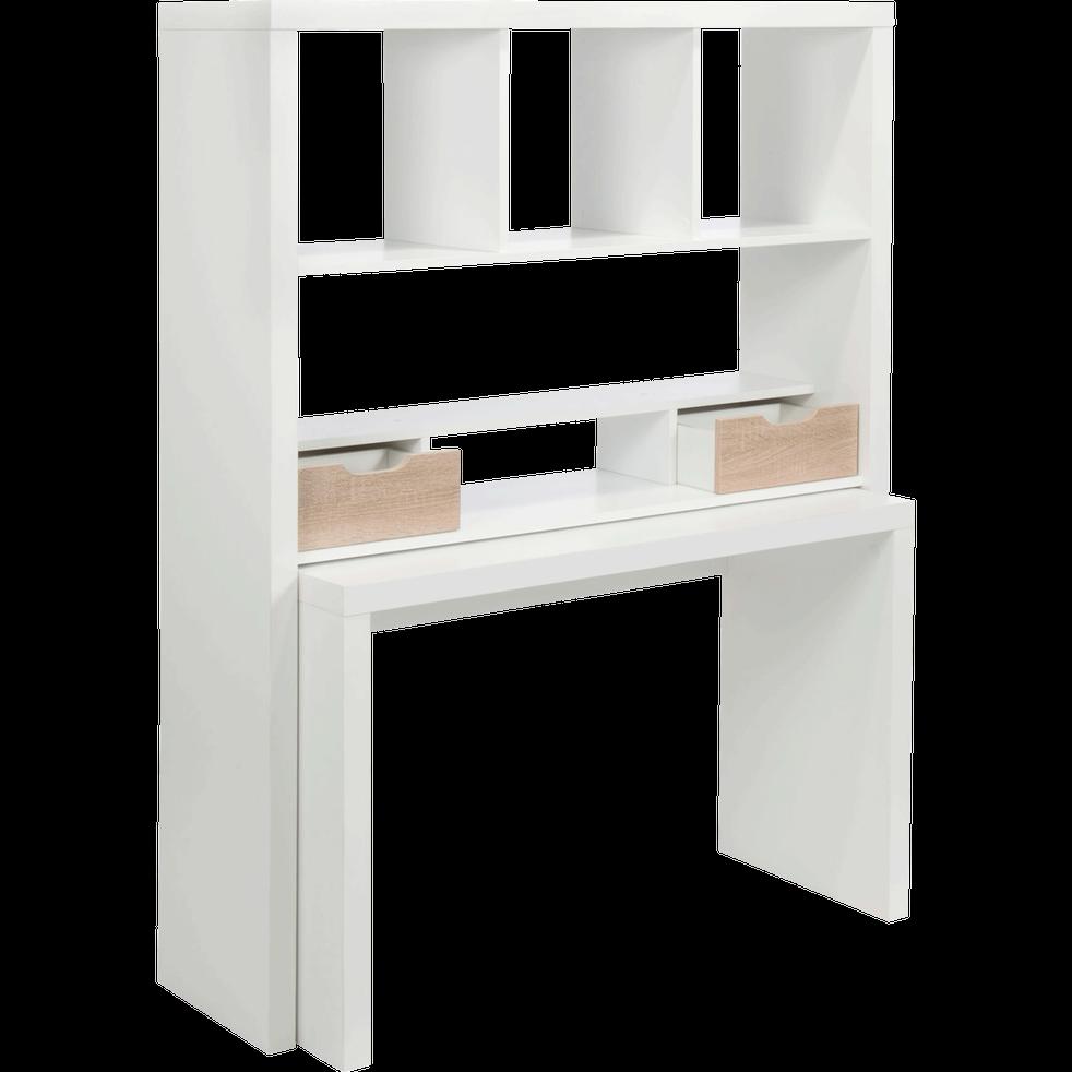 bureau modulable blanc avec tag res et tiroirs twisty bureaux alinea. Black Bedroom Furniture Sets. Home Design Ideas