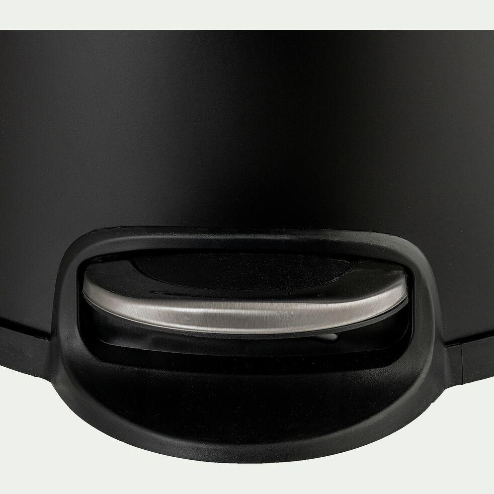 Poubelle à pédale en inox - noir 30L-PAVOUN