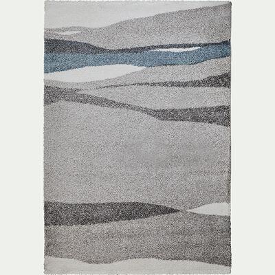 Tapis à motifs - gris et bleu 160x230cm-auro