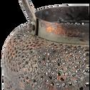 Lanterne en fer perforé cuivré H26cm-MISSOUN