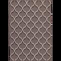 Tapis en laine et viscose marron 160x230cm-MAYFAIR