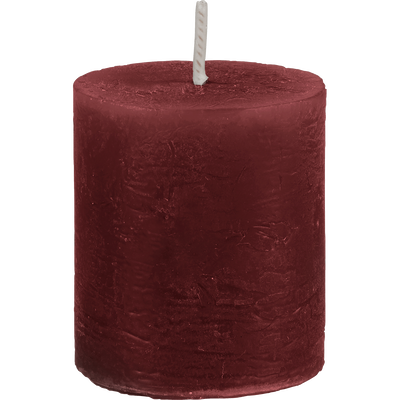 Bougie votive rouge sumac D4xH5cm-BEJAIA