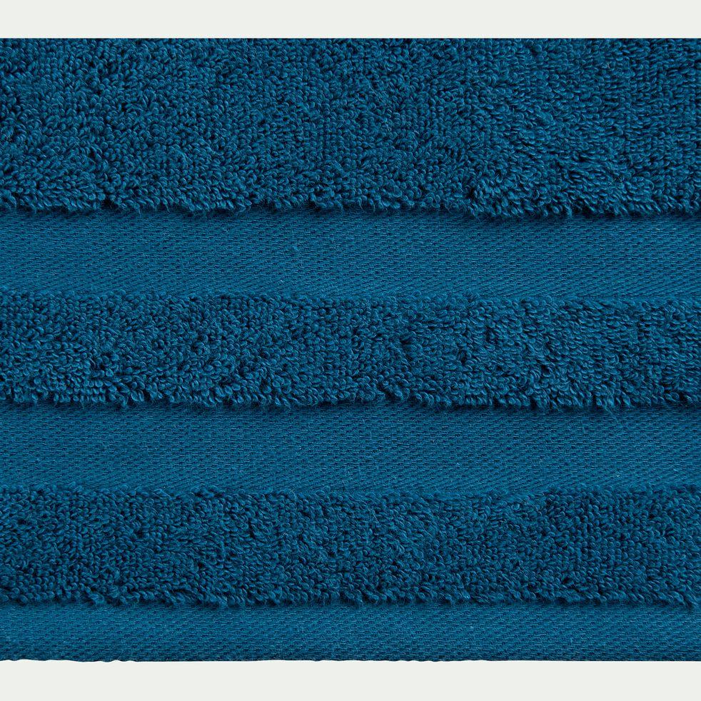 Drap de bain en coton - bleu figuerolles 100x150cm-Rania