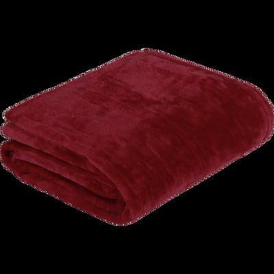 Plaid doux rouge sumac 130x170cm-ROBIN