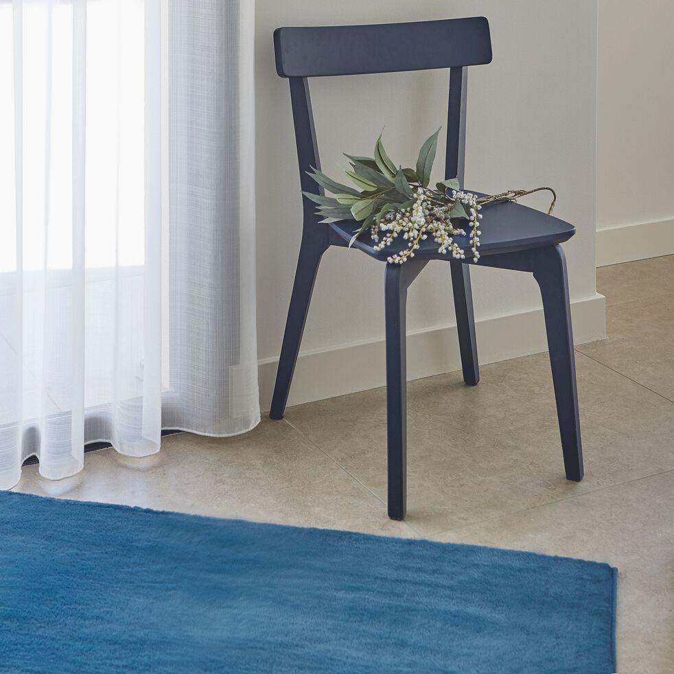 Chaise en bois - bleu myrte-SUZIE