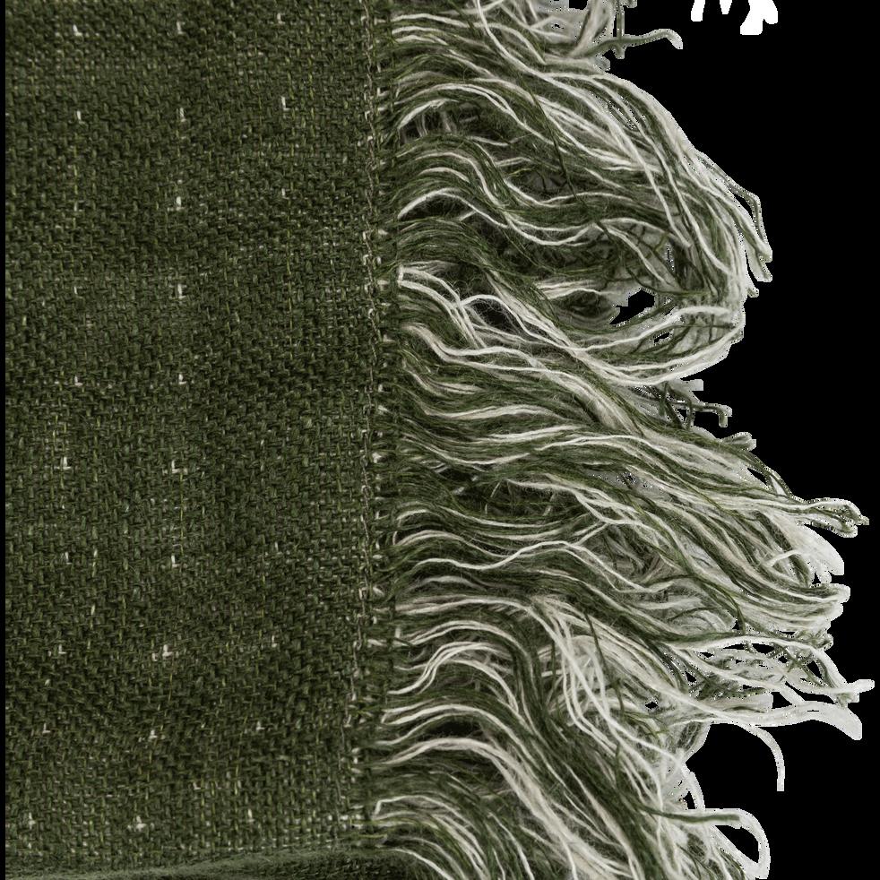 Plaid en lin vert cèdre 105x200cm-MARCEL