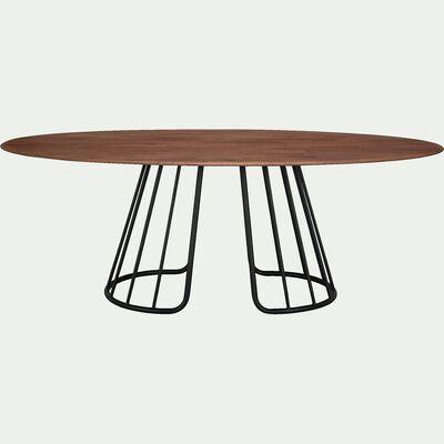 Table de repas ovale en chêne - 6 à 10 places-TREVA