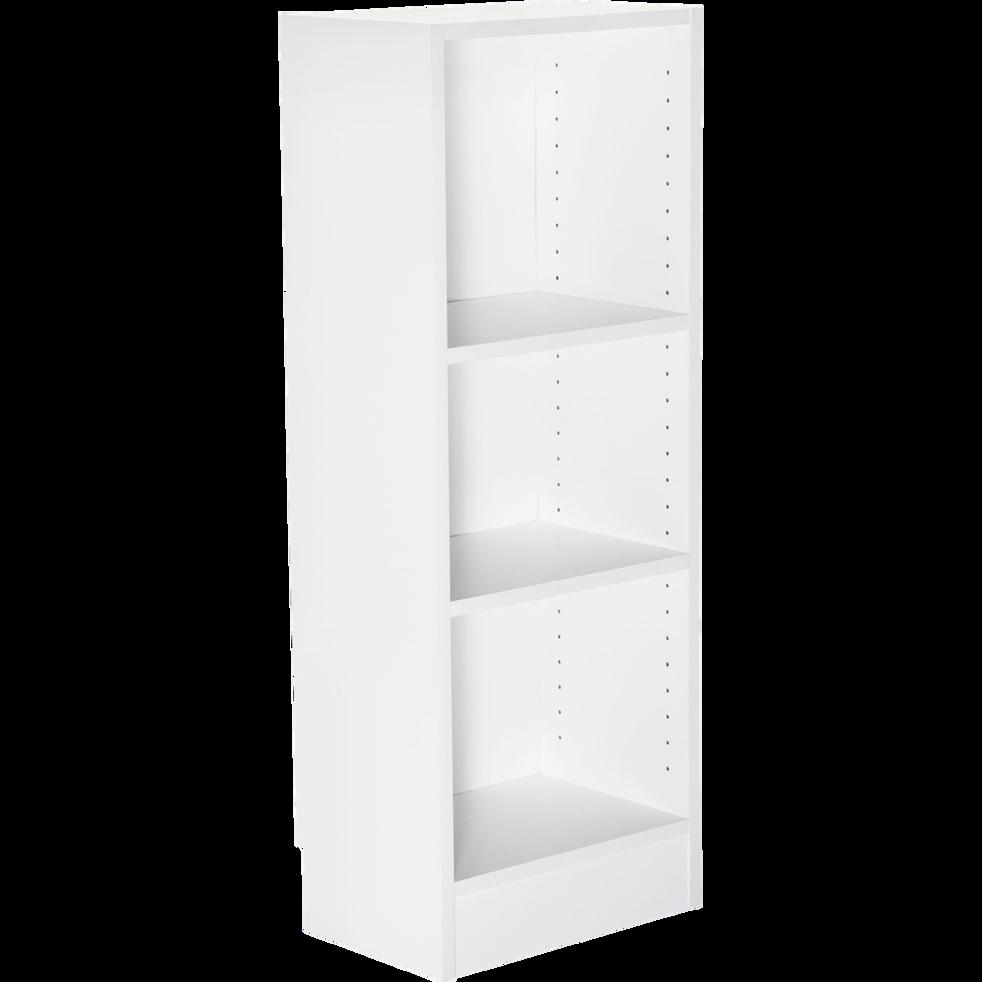 Petite bibliothèque 3 tablettes coloris blanc L40cm-BIALA