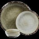 Assiette plate en grès vert D27.5cm-ADAM