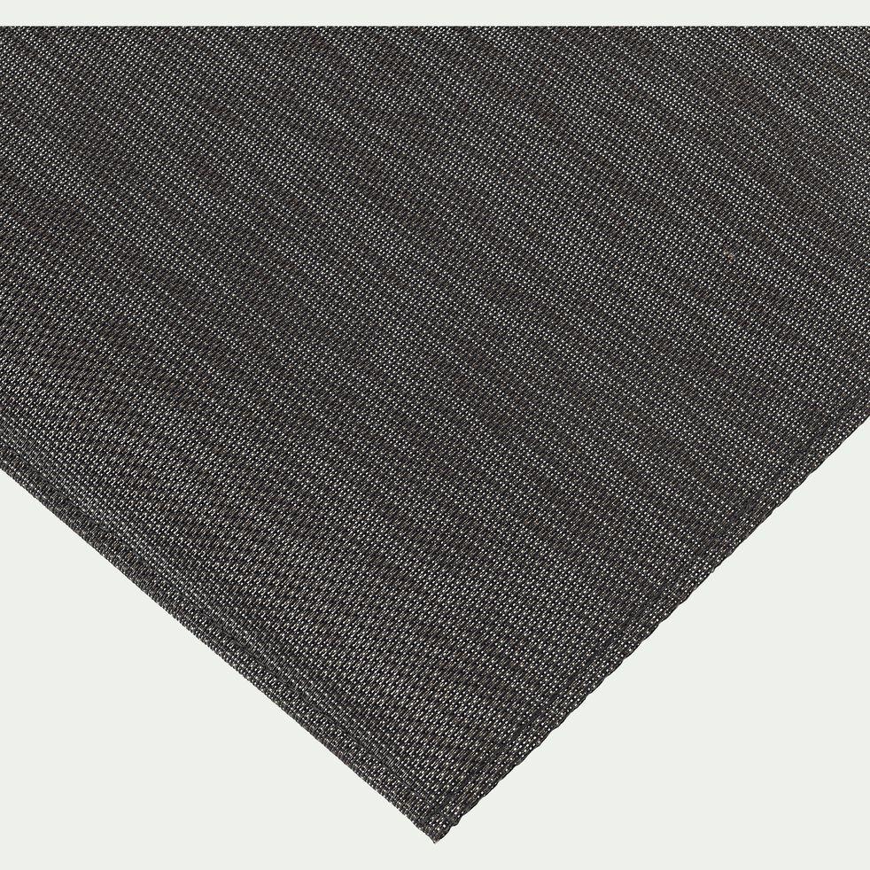 Tapis de cuisine effet tissé marron 50x80cm-VITOU