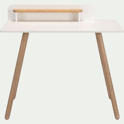 Bureau enfant en bois - blanc-LARGO