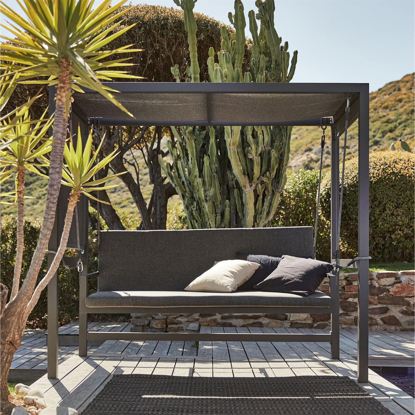 Balancelle de jardin en aluminium - blanc (3places)-BALO