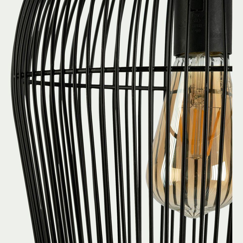 Suspension en métal filaire - noir H39,5xD24,5cm-CLAUDINE