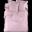 Housse de couette en percale de coton rose lilas - 240x260 cm-Percaline