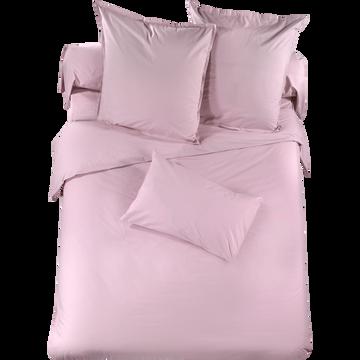 Housse de couette en percale de coton rose lilas - 260x240 cm-Percaline