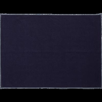 Set de table en lin et coton bleu myrte 36x48cm-MILA