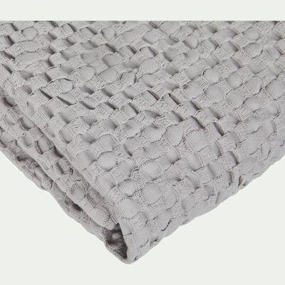 Serviette invité gris borie en coton nid d'abeille-CLEMATIS