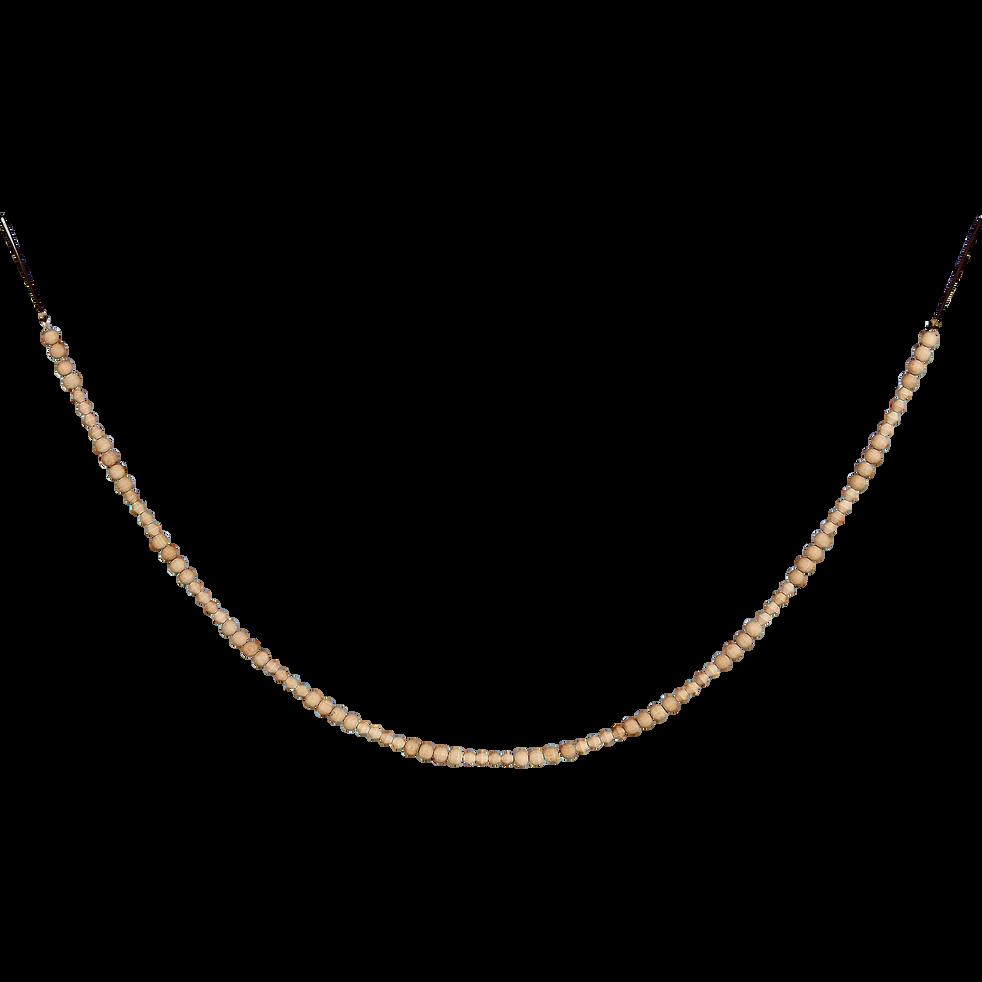 Guirlande en bois clair naturel 183cm-SUGAN