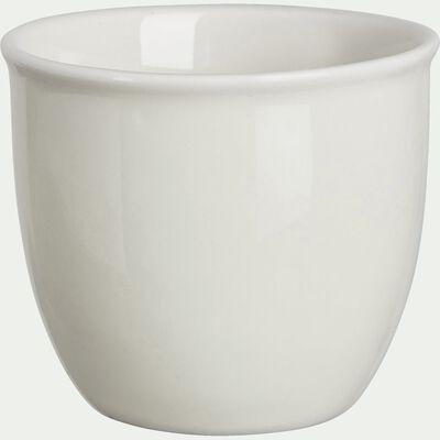 Coquetier en porcelaine - beige roucas-CAFI