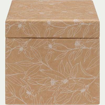 Boite en carton Fleur d'Oranger L12xl8xH10,5cm-FLEUR D'ORANGER