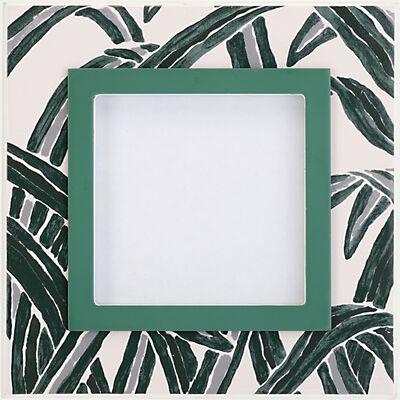 Cadre photo en bois motif feuilles d'agave 17x17cm-ALARO