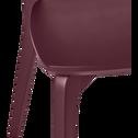 Chaise en bois rouge sumac-SUZIE
