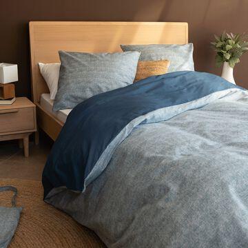 Housse de couette en coton - bleu figuerolles 240x220cm-CANIS