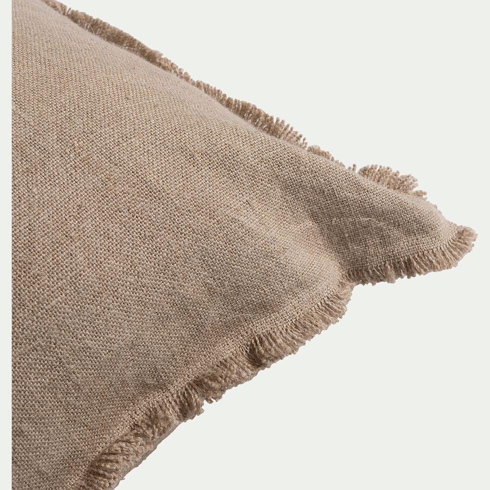 Coussin frangé en lin - naturel 50x70cm-TANTA