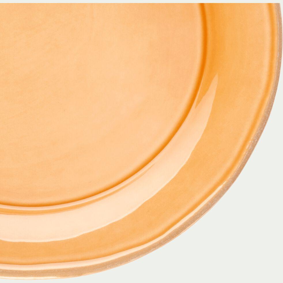 Assiette à dessert en faïence beige nèfle D22cm-LUBERON